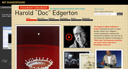 Shakespeare and Edgerton Websites
