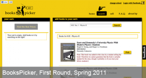 BooksPicker, Spring 2011