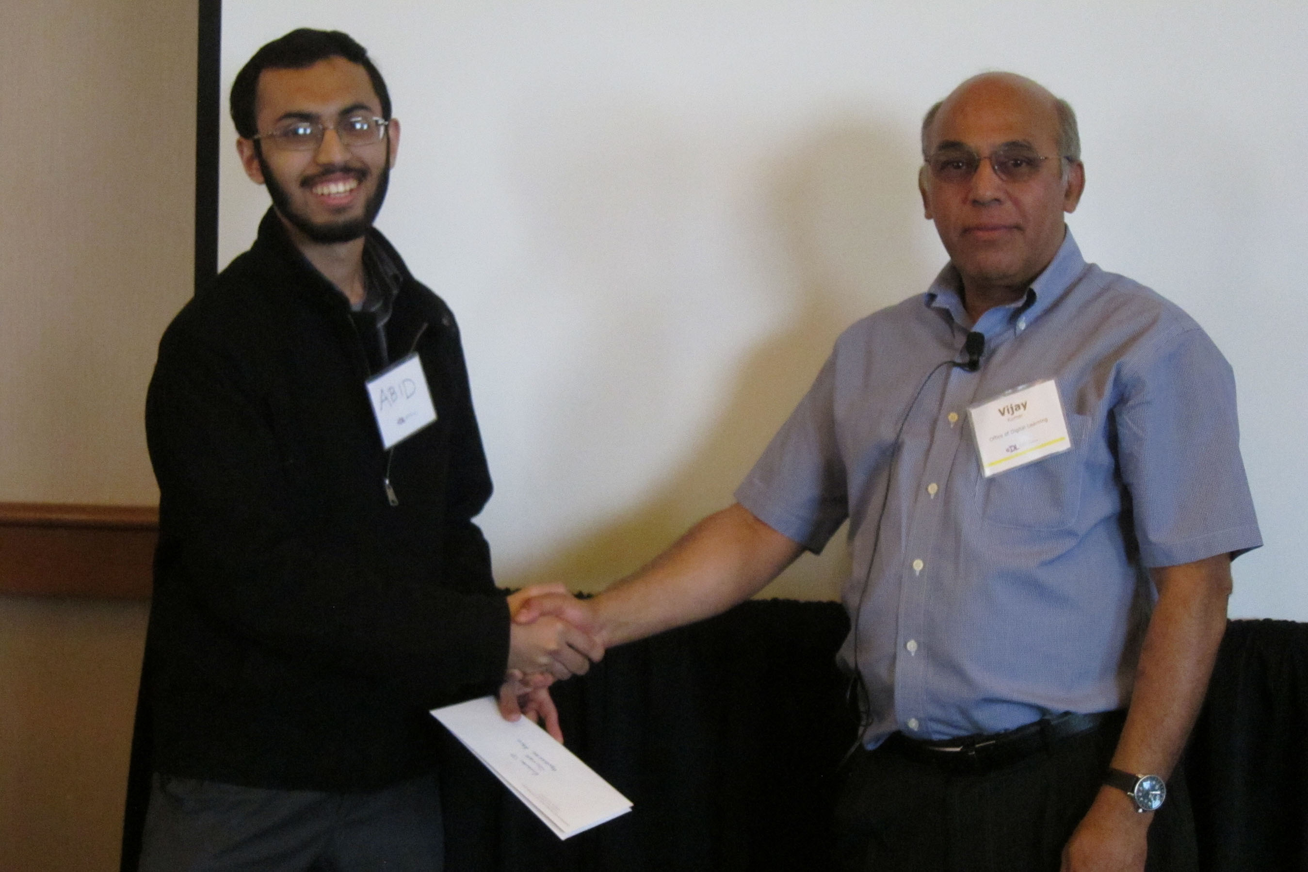 Abubakar Abid Receives Runner Up Prize